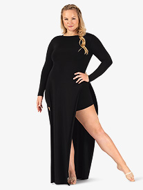 Womens Plus Size Performance Boat Neck Tunic Dress