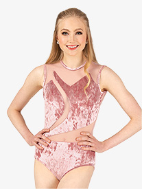 Womens Performance Crushed Velvet Tank Leotard