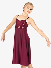 Girls Performance Glitter Swirl Camisole Dress