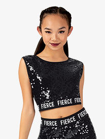 Womens Fierce Logo Band Performance Crop Top