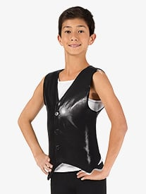 Boys Button Down Performance Vest