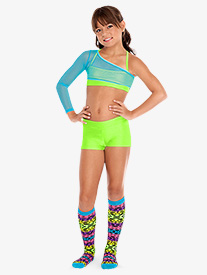 Child Dance Shorts With Banded Waist