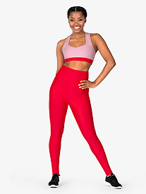 Womens Matte High Waist Dance Leggings
