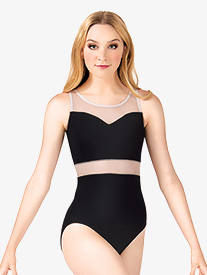 Adult Mesh Insert Tank Leotard
