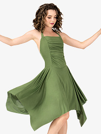 Adult Rouched Front Halter Dress