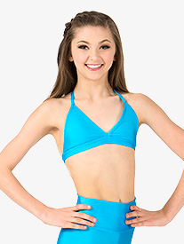Child Triangle Bikini Camisole Halter Bra Top