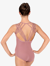 Womens Strappy Back Camisole Leotard