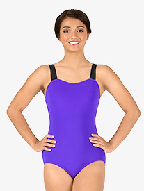 Adult Curvy Fit V-Back Camisole Leotard