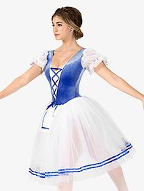 Womens Swanhilda Short Sleeve Peasant Costume Dress