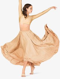 Womens Lyrical Flow Collection Floor Length Skirt