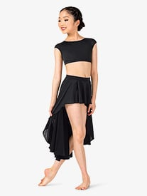 Girls Lyrical Flow Collection High-Low Skirt