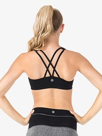 Adult Double Strap Tank Compression Bra Top