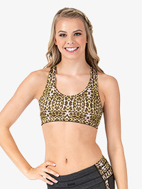 Adult Leopard Racerback Sports Bra Top