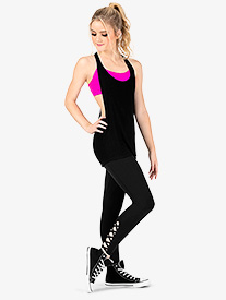 Womens Crisscross Compression Workout Leggings