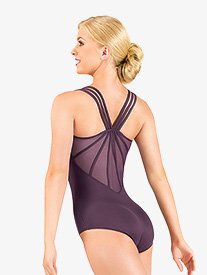 Adult Microfiber Strappy Back Camisole Leotard