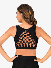 Womens Macrame Tank Dance Bra Top