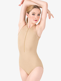 Adult Mesh Tank Zip Front Leotard