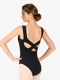 Womens Crisscross Back Tank Leotard