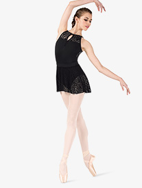Womens Kaleidoscope Mesh Ballet Skirt