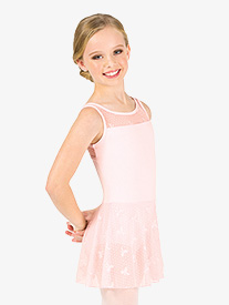 Girls Ribbon Mesh Tank Ballet Dress