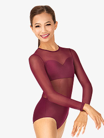Child Sweetheart Long Sleeve Leotard