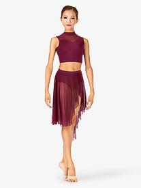 Child Asymmetrical Dance Skirt