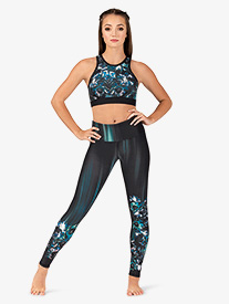 Womens Eden Mid-Rise Workout Leggings