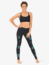 Womens Impact Flower Workout Leggings