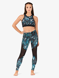 Womens Mila Eden Print Workout Leggings