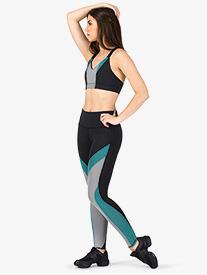 Womens Jordyn Contrast Workout Leggings