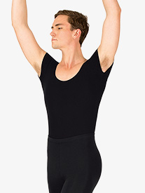 Mens Dance Cotton Short Sleeve Leotard