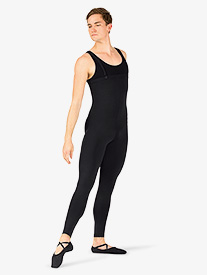 Mens Detachable Straps Dance Unitard
