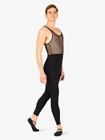 Mens Dance Mesh Tank Unitard
