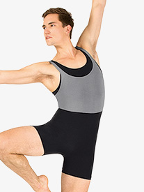 Mens Dance Layered Tank Shorty Unitard