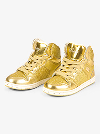 Adult Glam Pie Glitter Gold Sneakers