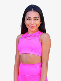 Girls Laser Cut Tank Dance Crop Top