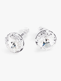 10mm Post Solitaire Earrings