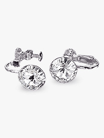 10mm Solitaire Clip-On Earrings