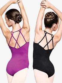 Womens Determined Crisscross Back Camisole Leotard