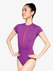 Womens Fierce V-Back Mesh Insert Leotard