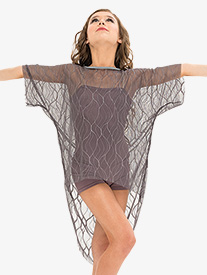Womens Mesh Short Sleeve Performance Tunic Top Set