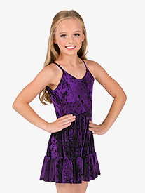 Girls/Womens Performance Crushed Velvet Camisole Dress