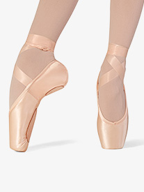 Womens Superlative Split Sole Stretch Satin Pointe Shoe