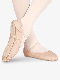 Child Dansoft Leather Full Sole Ballet Shoes