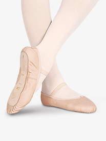 Toddler Dansoft Leather Full Sole Ballet Shoes