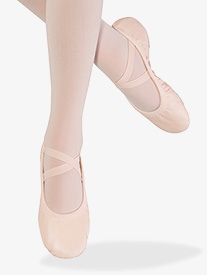 Womens Odette Leather Split Sole Ballet Shoes