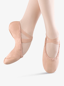 Womens Pump Canvas Split-Sole Ballet Shoes