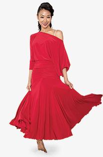 Womens Long Tulip Ballroom Dance Skirt