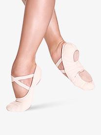 Womens Bliss Stretch Canvas Split-Sole Ballet Shoes