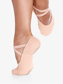 Womens Bali Stretch Canvas Split-Sole Ballet Shoes